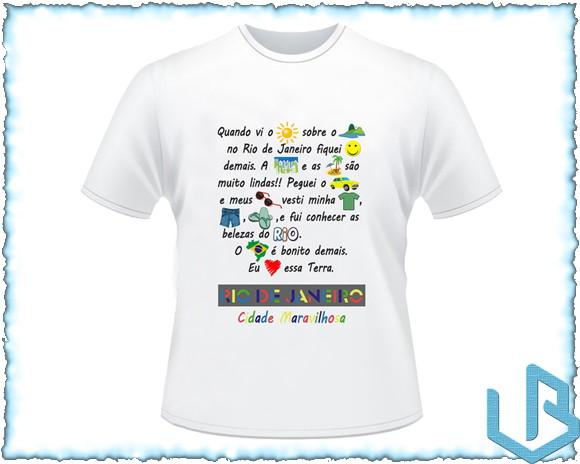 Camiseta Personalizada Rio de janeiro 1 no Elo7  b546e9f6b64