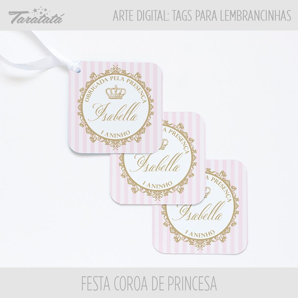 Arte Digital Tag Coroa De Princesa No Elo7 Taratata Papelaria