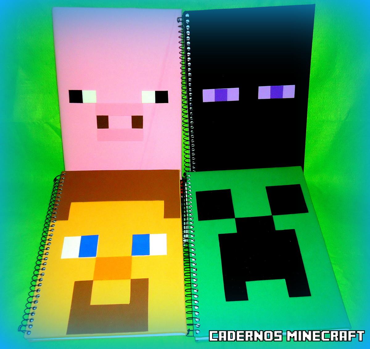Caderno minecraft creeper ou steve coisas para amar - Minecraft creeper and steve ...
