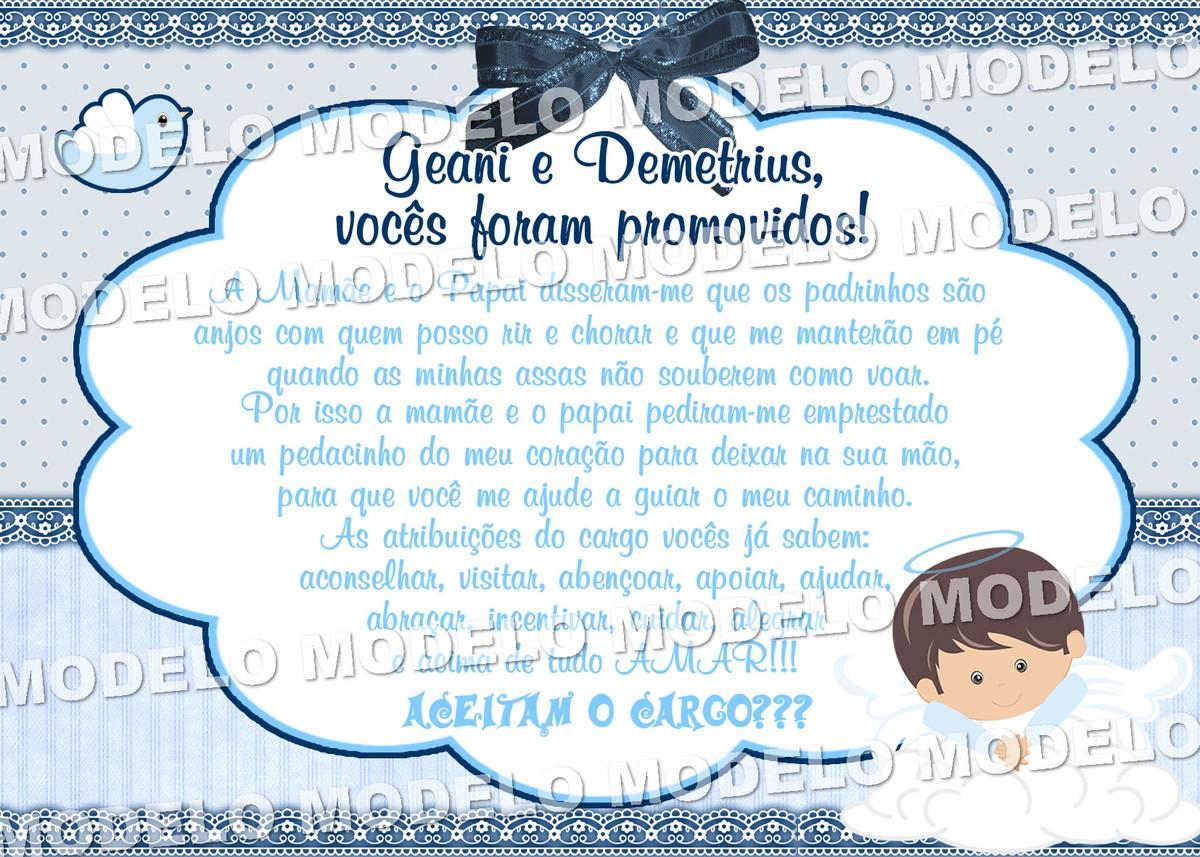 Convite digital BATIZADO PADRINHOS email no Elo7   Personalizados ... 784771e00f