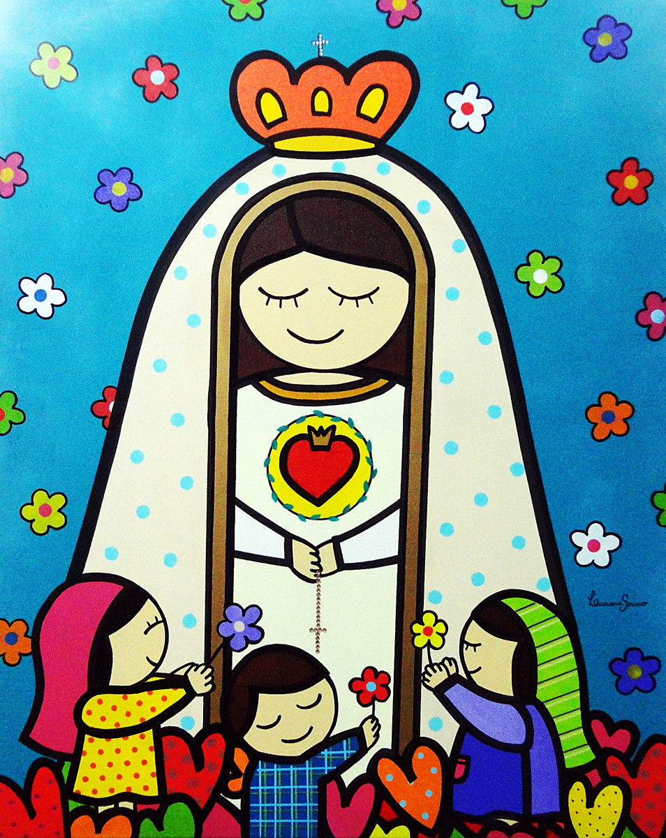 Painel Nossa Senhora De Fatima No Elo7 Atelie De Artes Plasticas