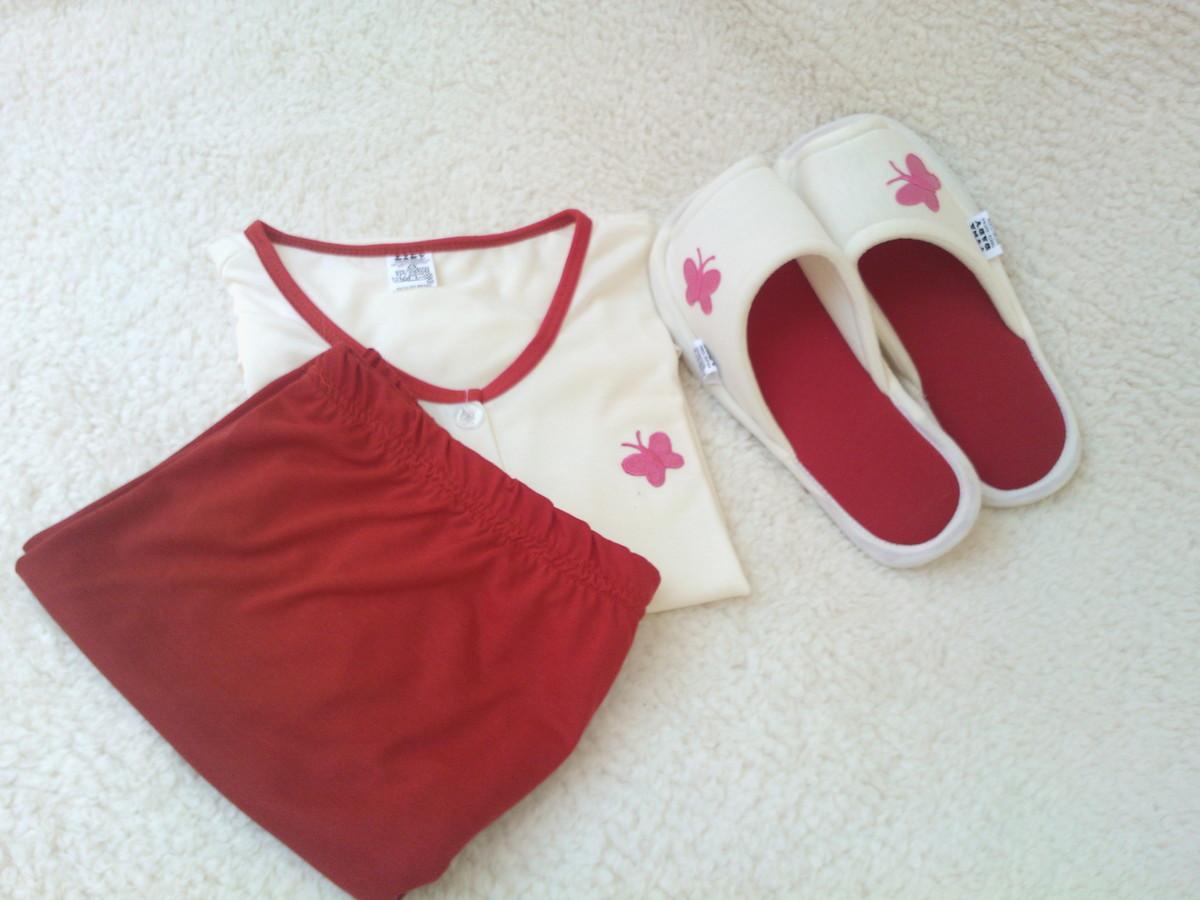 6b20f4f1672826 Kit de pijama mis chinelo de quarto