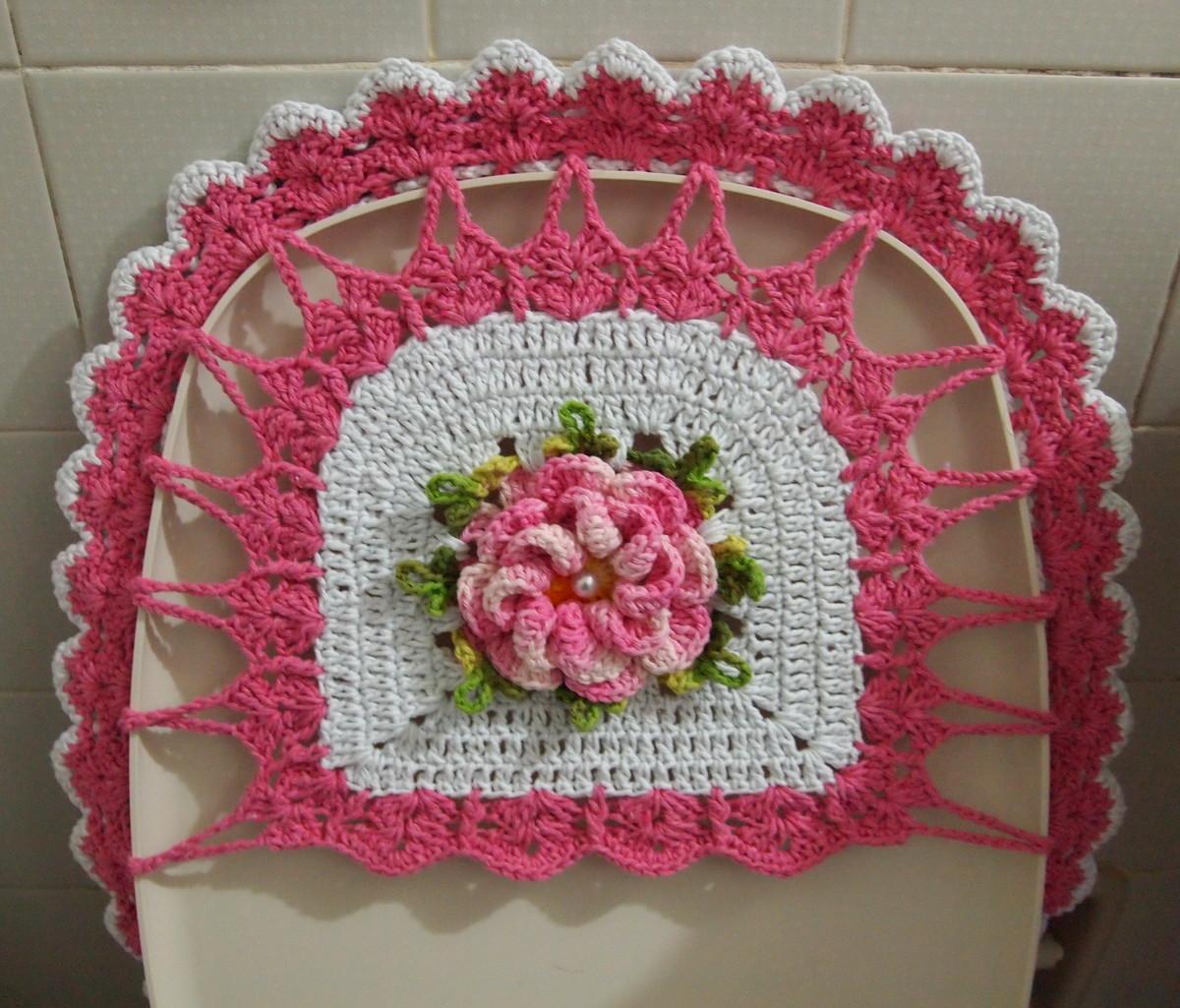 de banheiro rosa e branco babado duplo jogo de banheiro rosa e branco  #9B3047 1200x1025 Banheiro Branco E Rosa