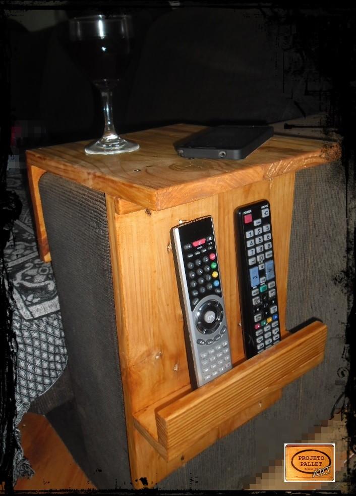 Porta copos e controle para sofá-madeira no Elo7 | PROJETO ...