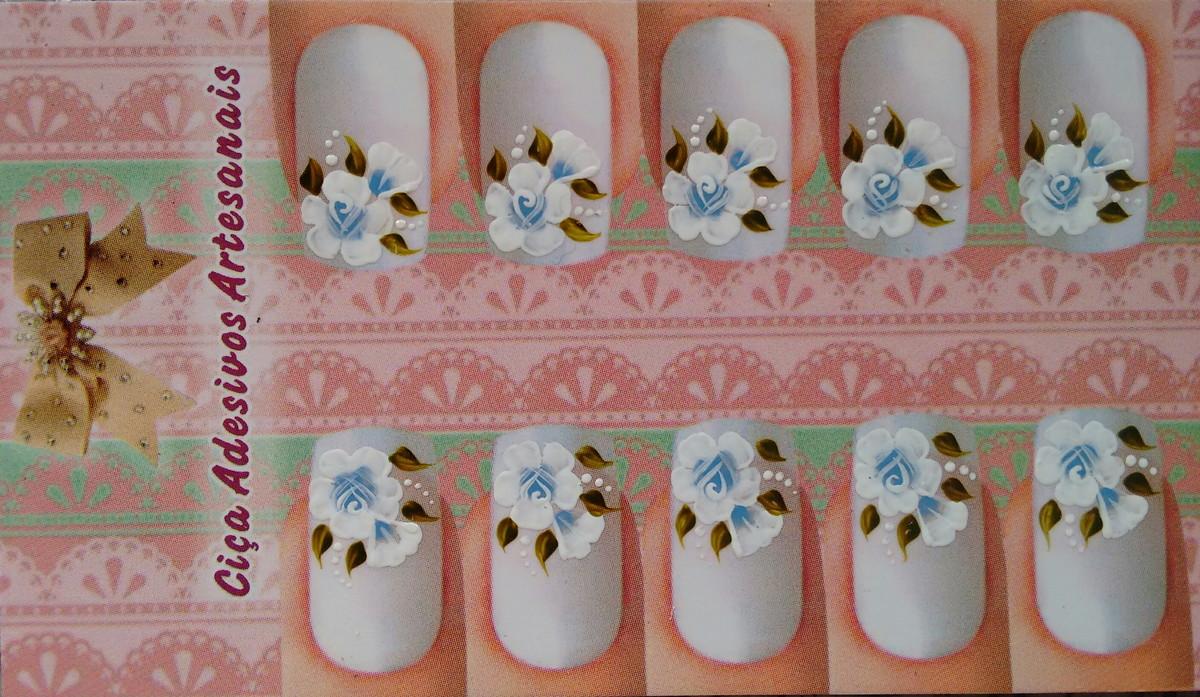 Flor Mexicana Azul No Elo7 Cica Adesivos Artesanais 3b015c