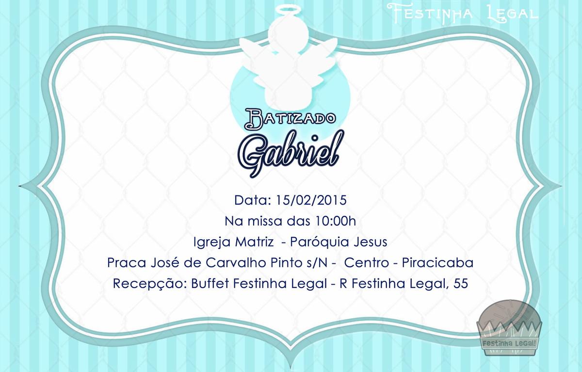 Convite Virtual Batizado Menino No Elo7 Festinha Legal 4df795