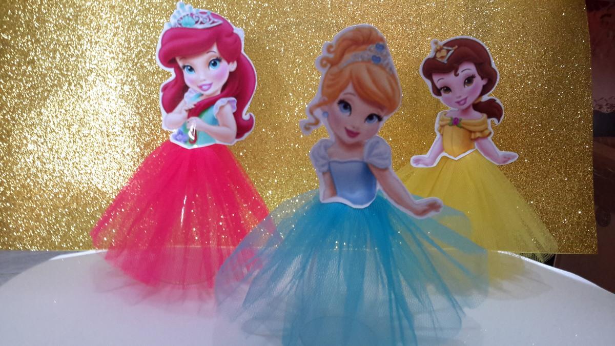 Enfeites de mesa Princesas baby 20cm 2 no Elo7 M&M Lembrancinhas (4E534E)