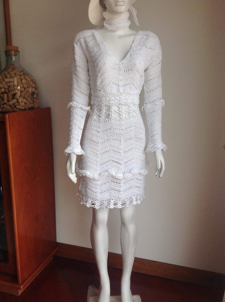 4c95095d2 Vestido branco , meia manga em crochet no Elo7 | GUAPA ARTEIRA (4E60CC)