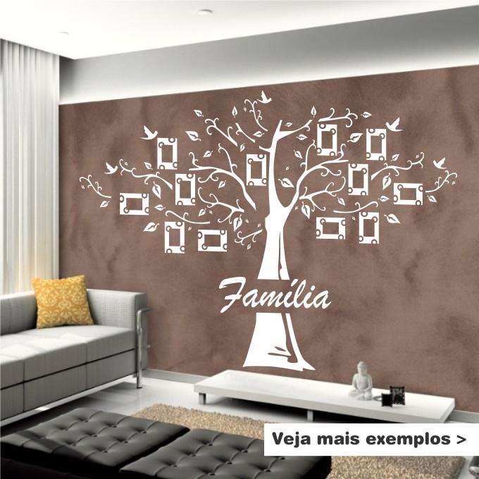 Adesivo De Parede Arvore Familia ~ AdesivoÁrvore Genealógica Família 6Formas Adesivos Decorativos Elo7