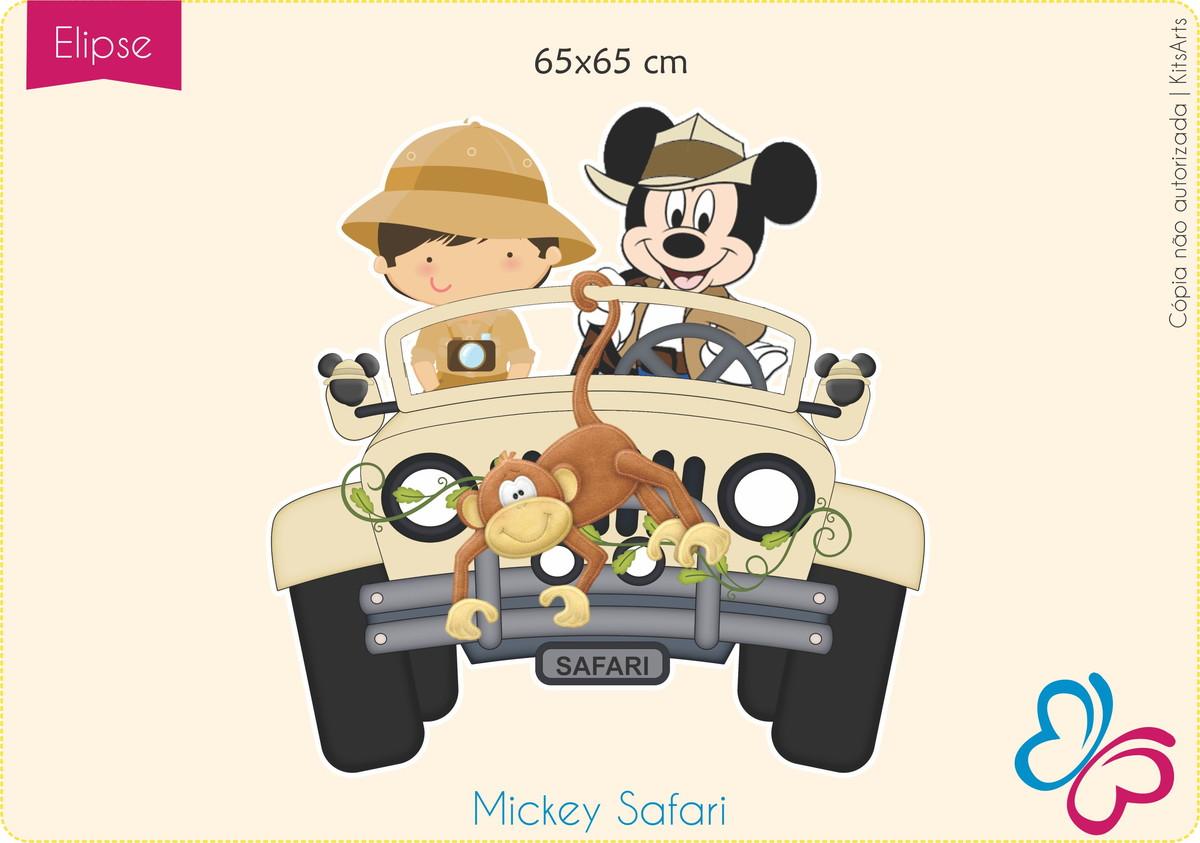 Placa Elipse Digital - Mickey Safari no Elo7  d5e82c58e437e