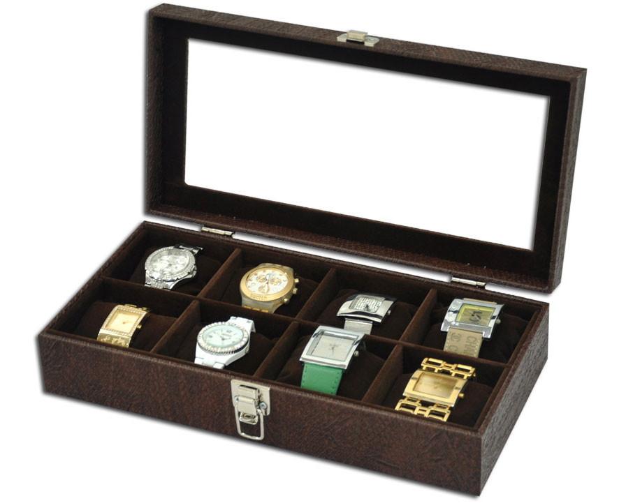 b1982ae569e Caixa para 8 relógios com expositor no Elo7