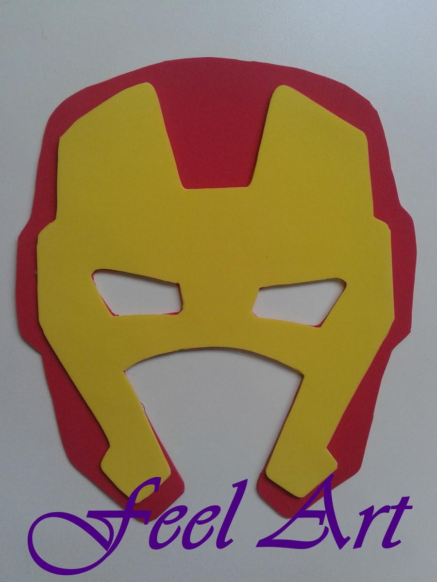 Zoom · Máscara em EVA Homem de Ferro