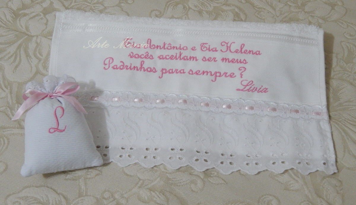 Toalha Convite Padrinhos De Batismo No Elo7 Arte Mania 4f1c52