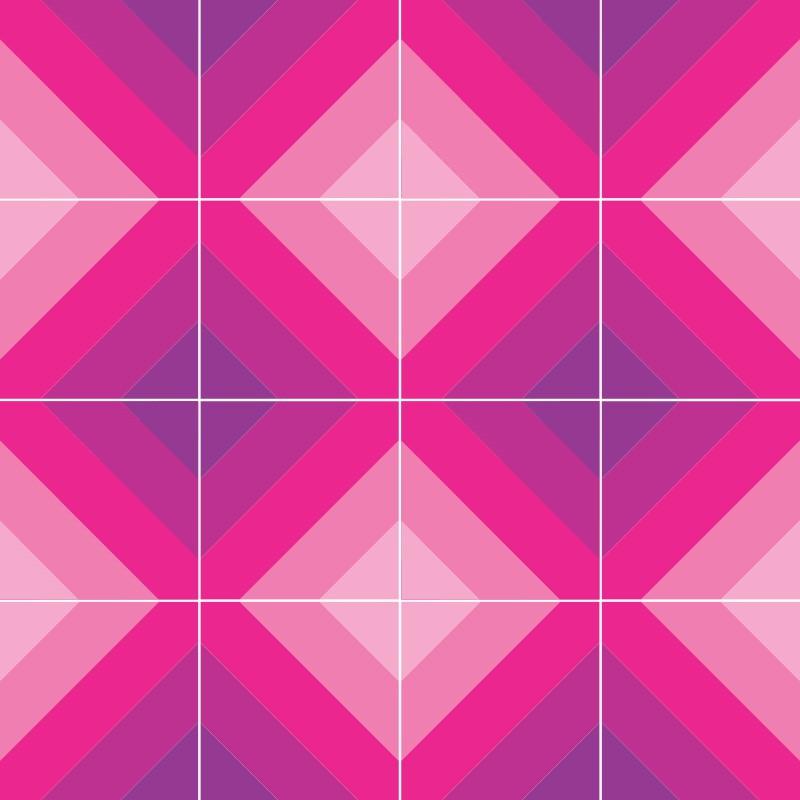 adesivo de azulejo tons rosa x cm mulher