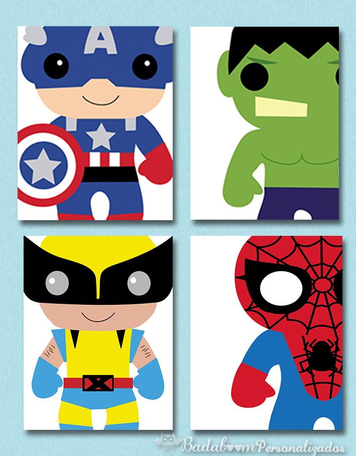 Kit Arte Digital Para Poster Infantil Herois Baby I No Elo7