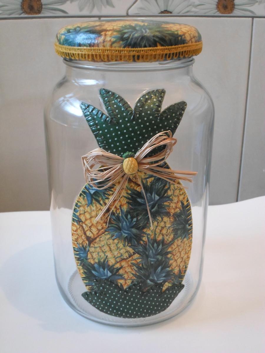 Enfeite De Vidro ~ Pote de vidro patchwork em tecido no Elo7 Artesanatos da Amanda (4FB759)