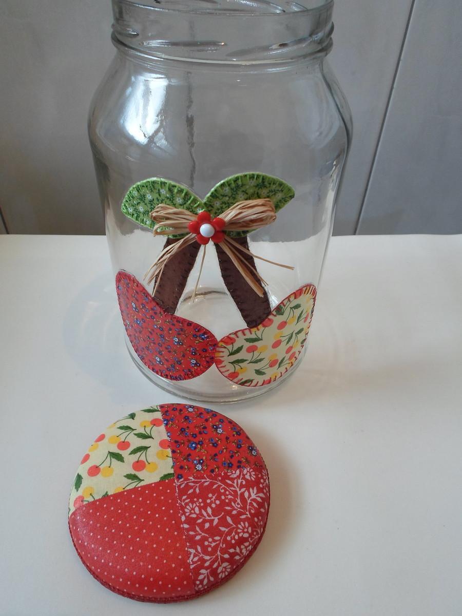 Armario Baño Con Espejo ~ Pote de vidro patchwork em tecido no Elo7 Artesanatos da Amanda (4FB86A)