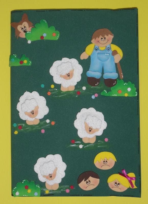 Capa para caderno decorada em eva minina muleka produtos - Goma eva decorada ...