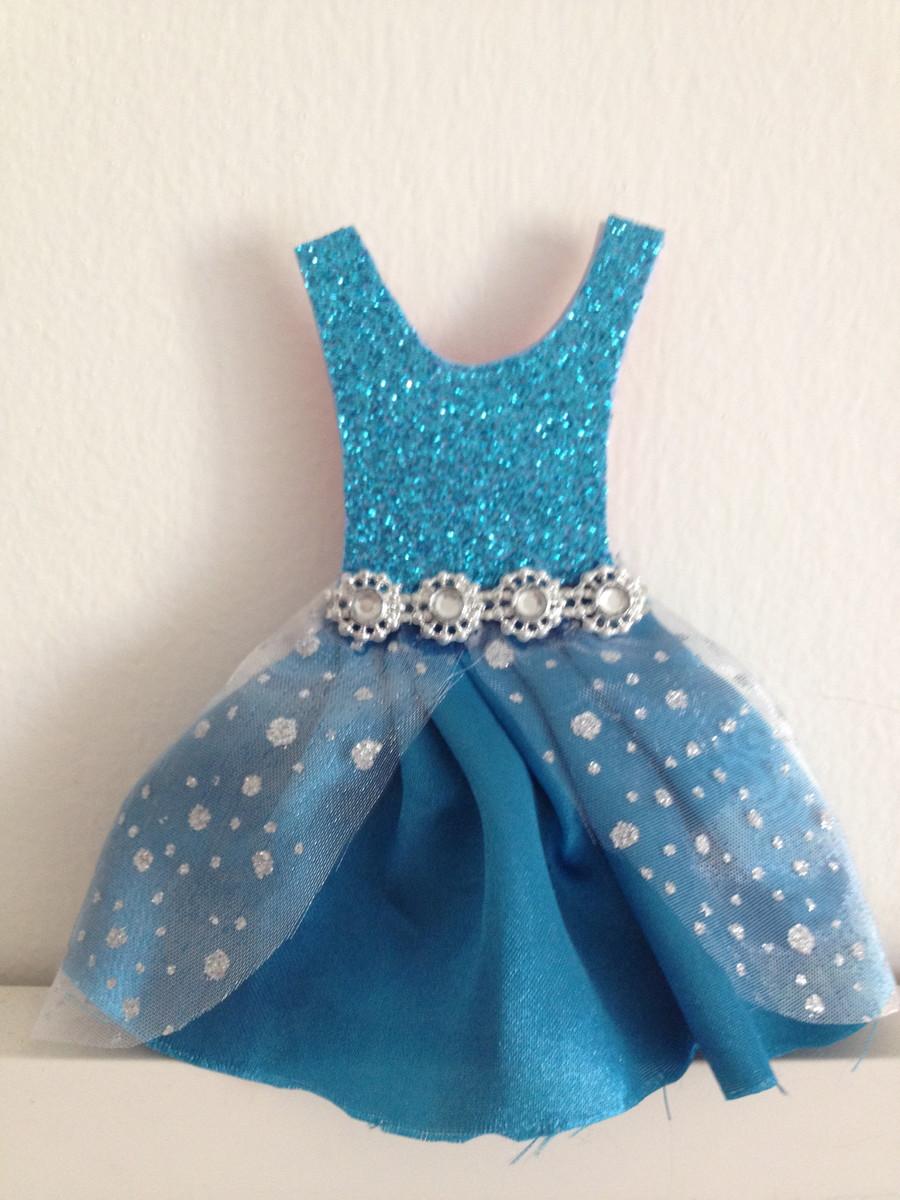 Convite Vestido Elza Frozen