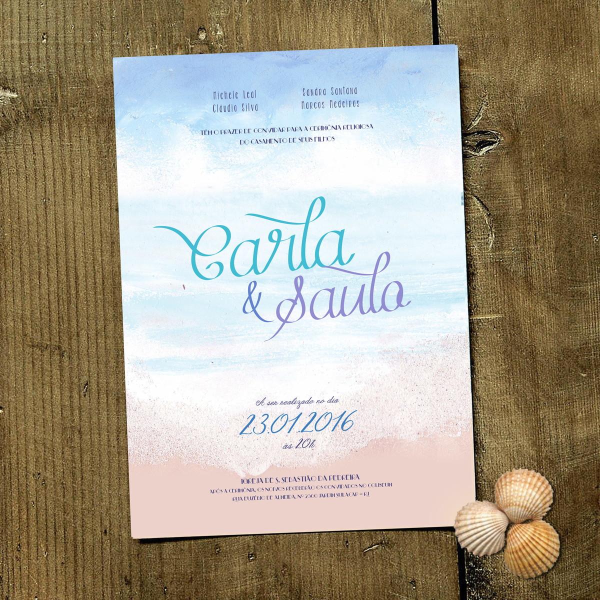convite de casamento beach love p imp no elo7 papeleletra 501051