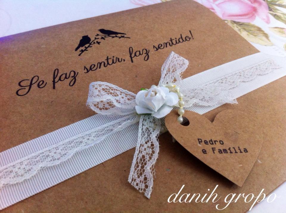 Convite De Casamento Kraft Vintage No Elo7 Danih Gropo 502d2c