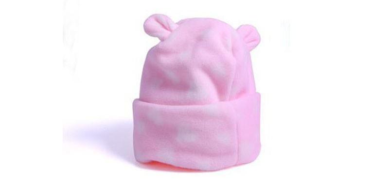 Zoom · Gorro orelha urso Soft rosa - RN ba7f5035957