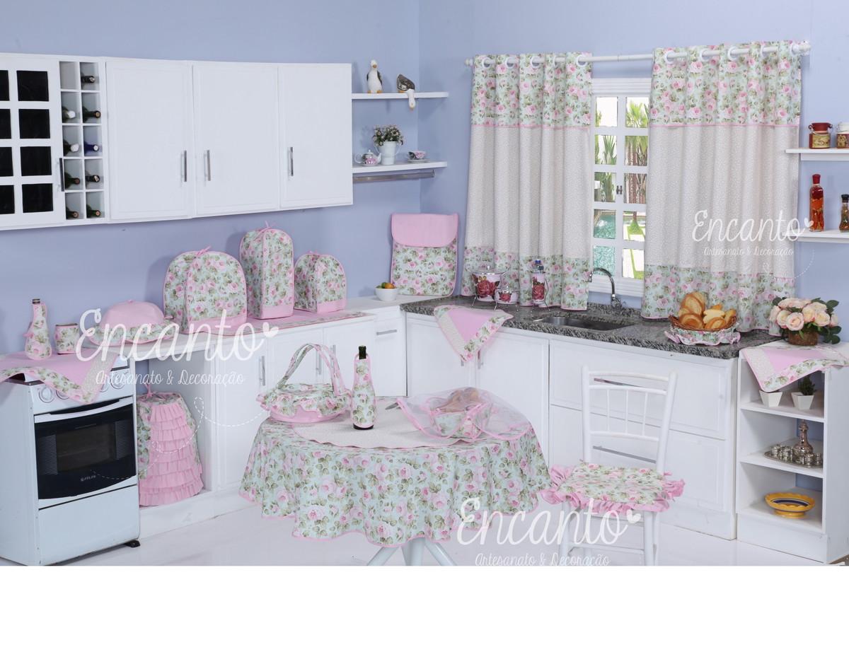 Jogo De Cozinha Floral No Elo7 Encanto Artesanato Decora O 504345