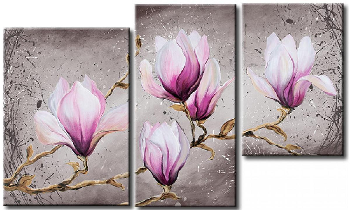 Quadro flores magn lia cod 1724 no elo7 meuri quadros e for Murales de tela para pared