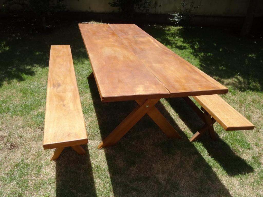 Mesa r stica em madeiras maci as decorosa elo7 for Modelos de mesas cuadradas
