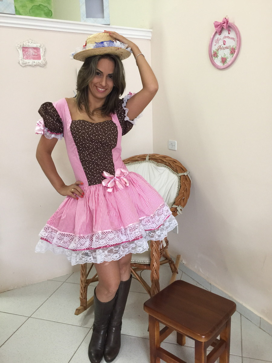 Vestido caipira adulto 2015 dalili store baby elo7 for Jardineira masculina c a