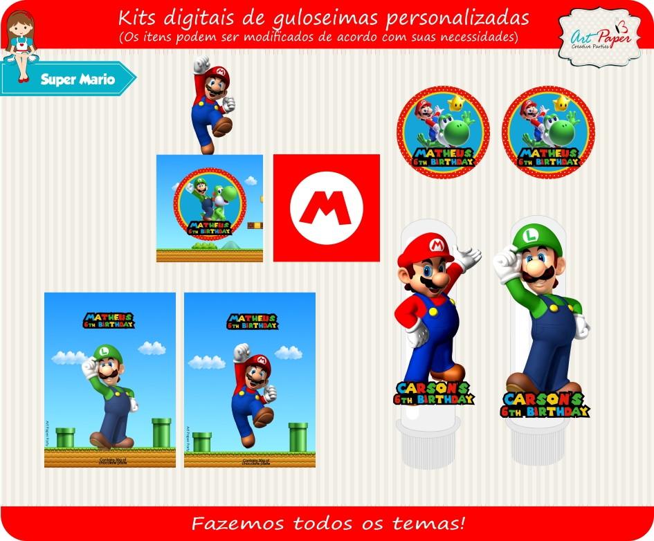 kit digital super mario no elo7 art paper creative party 5096fd