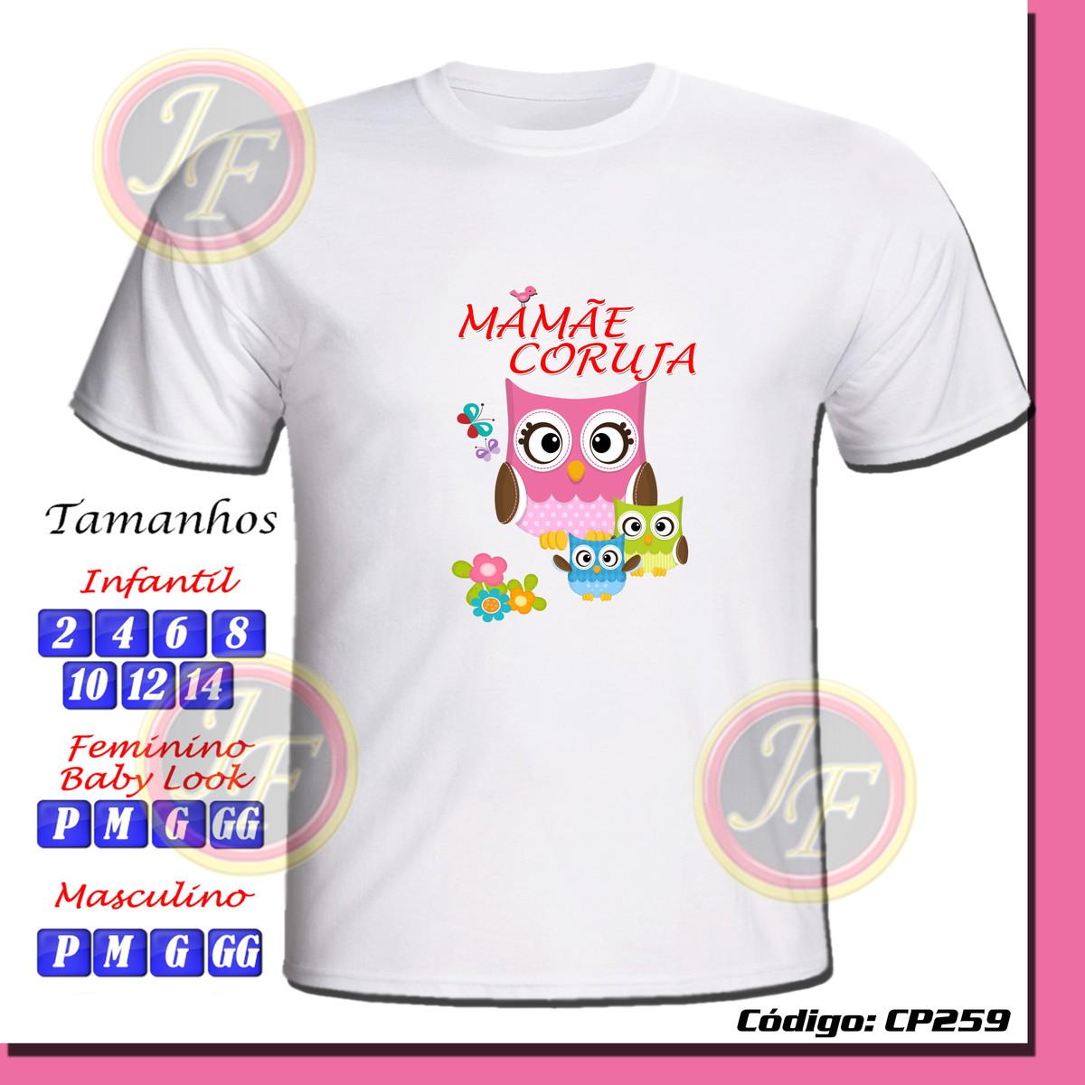 e933d923a9 Camiseta Mamãe Coruja Personalizada no Elo7