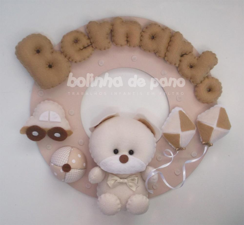 Enfeite Porta Maternidade PRONTA-ENTREGA no Elo7   Bolinha de Pano . a7dffe0977