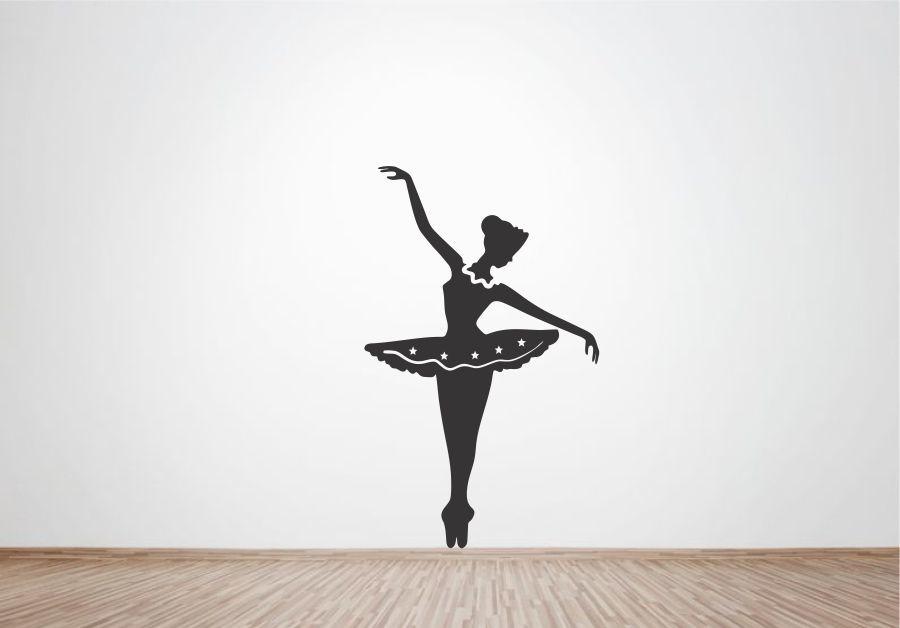 Armario Jardin Bricodepot ~ Adesivo de Parede Bailarina Ballet no Elo7 Wegloo (50ECFC)