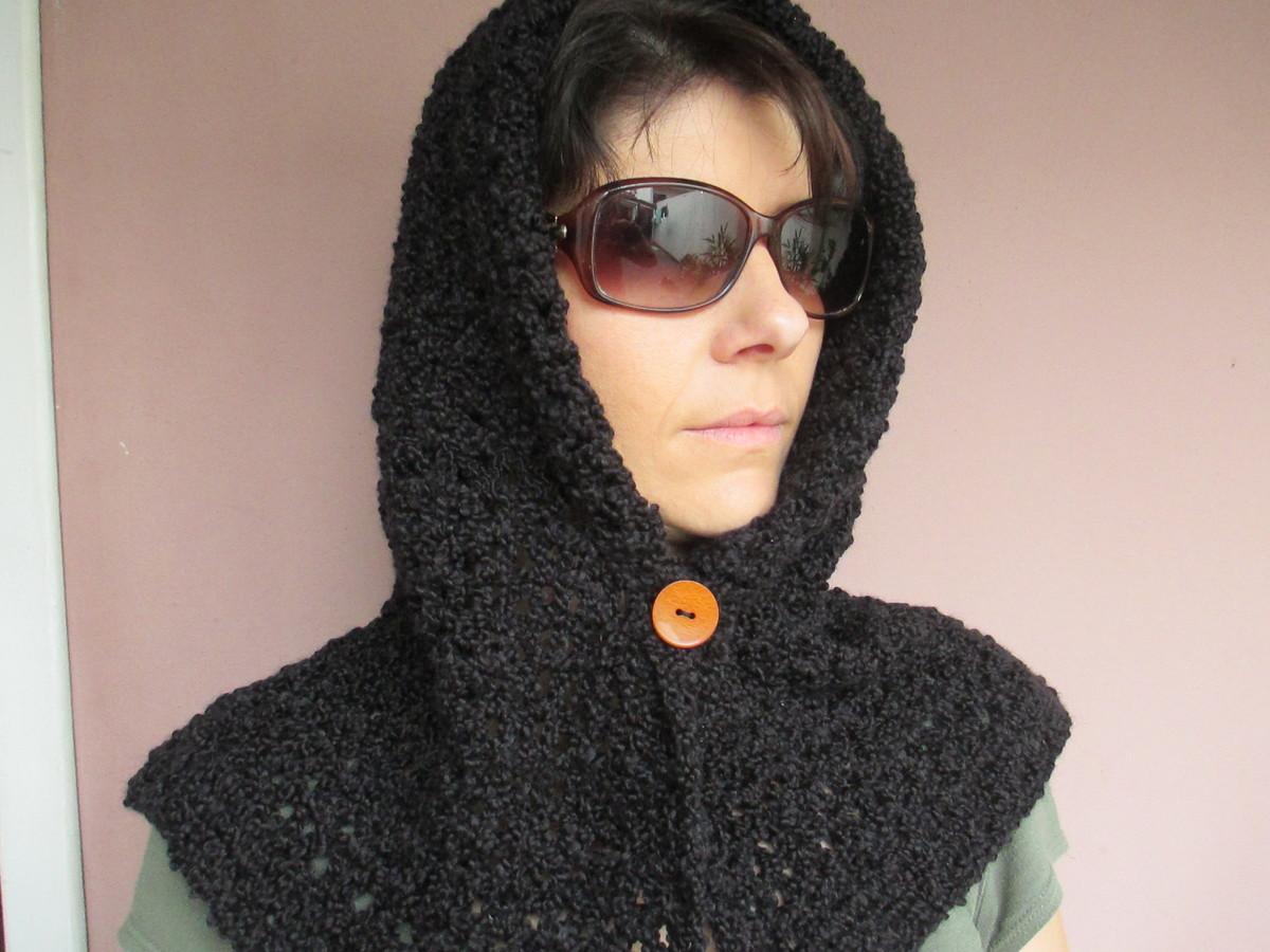 Gola capuz cachecol de tricô no Elo7  b4624075f8d
