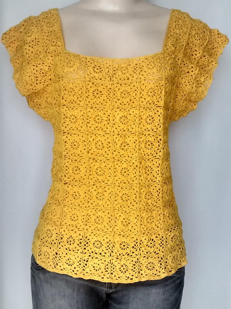 blusa de croche manga curta blusa de croche