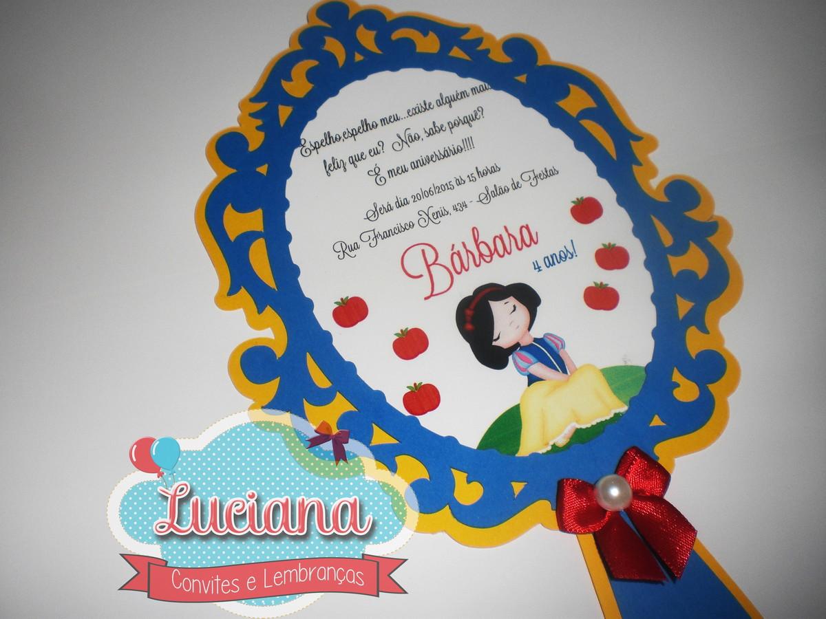 Convite Espelho Branca De Neve No Elo7 Luciana Convites 520a29