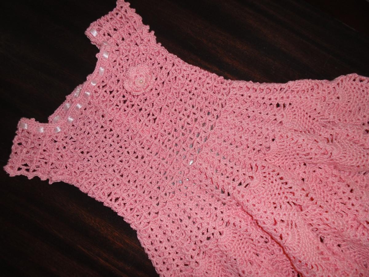 1f579d32ccb2 Vestido de Crochê Emily -4 a 5 anos no Elo7 | MARIA AMÉLIA - CROCHÊ ...