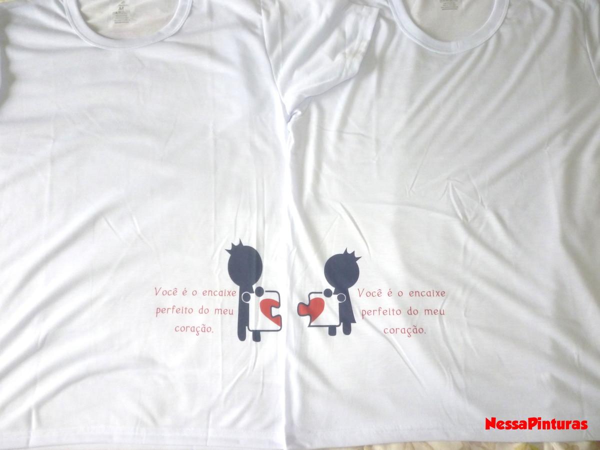 fda9ab95f Kit camisetas namorados que se completa no Elo7