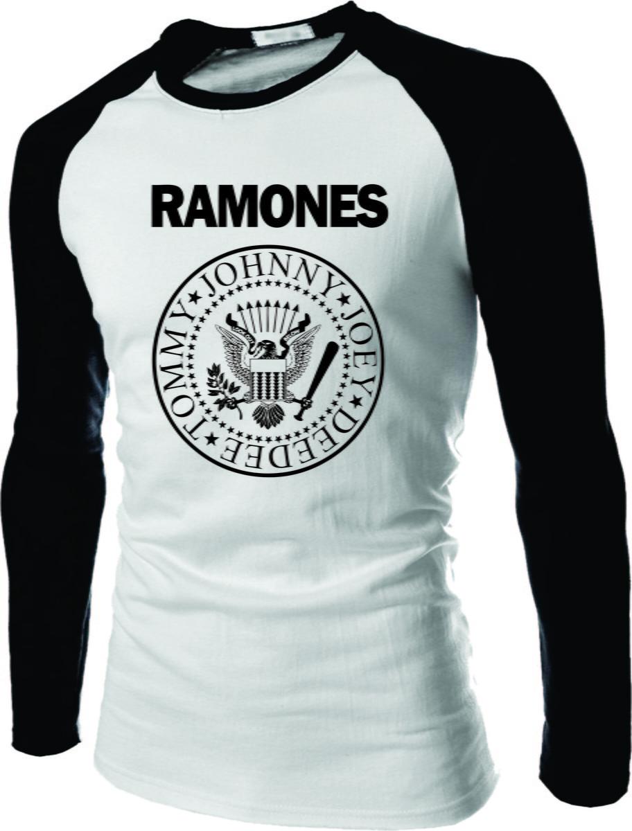 443b04d14016f Camiseta Rock Raglan Manga Longa Rock no Elo7