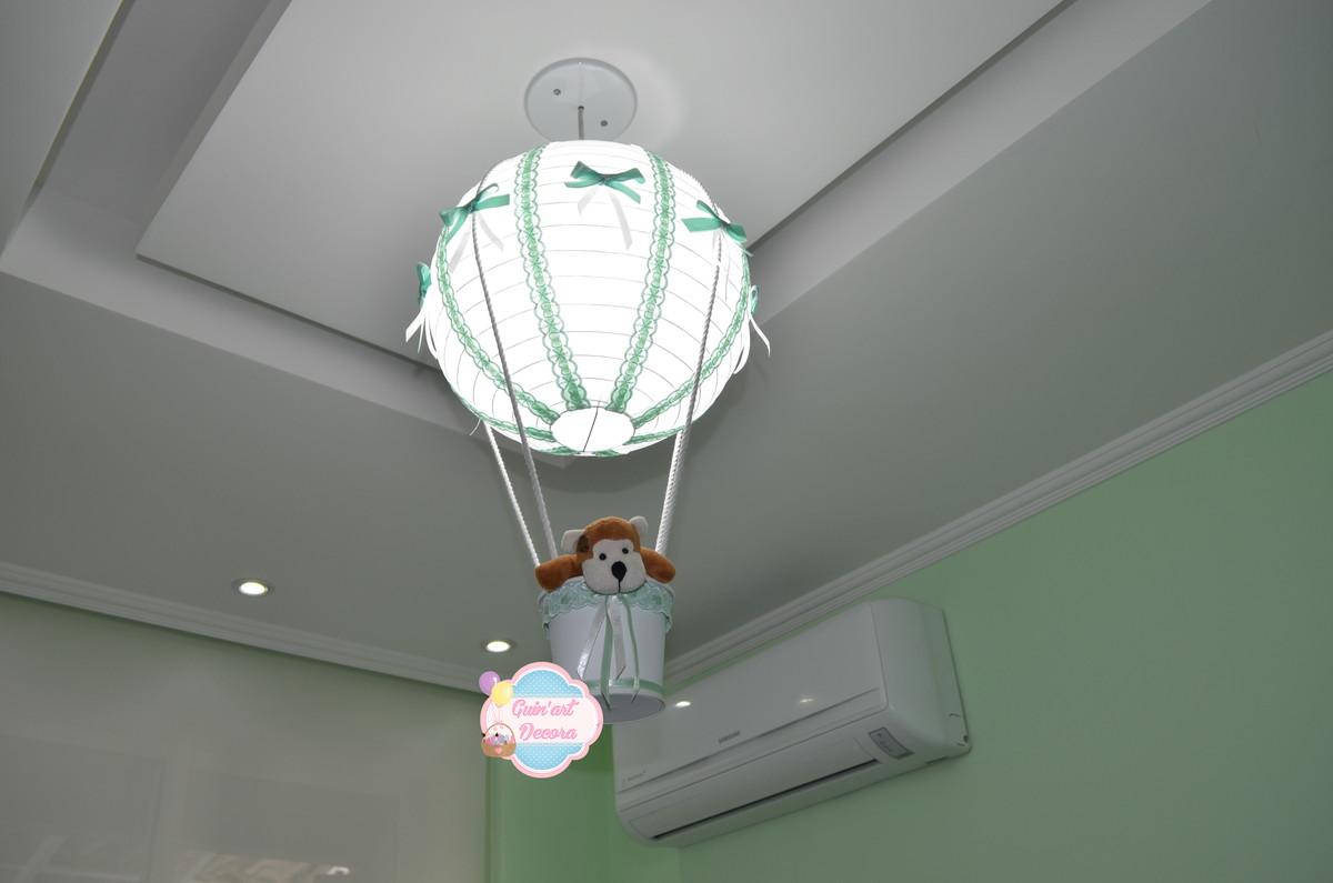 Luminária bal u00e3o COM kit elétrico 30cm no Elo7 GuinArt Decora (49E93B)