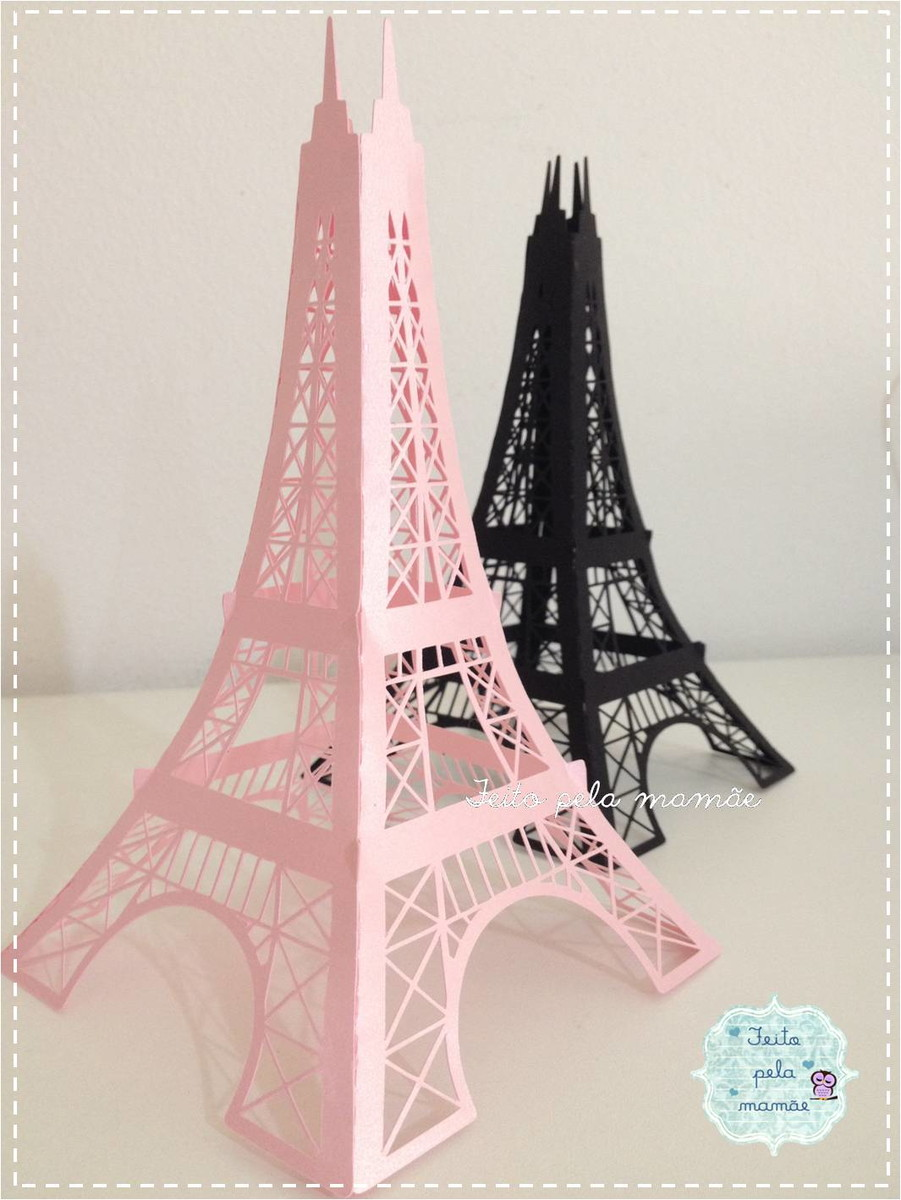 Torre Eiffel 3d No Elo7 Feito Pela Mamae Campinas 52a736