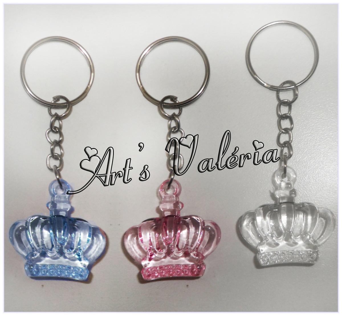 Chaveiro Coroa Real - Média no Elo7   Arts Valeria Personalizados ... 6f82715746