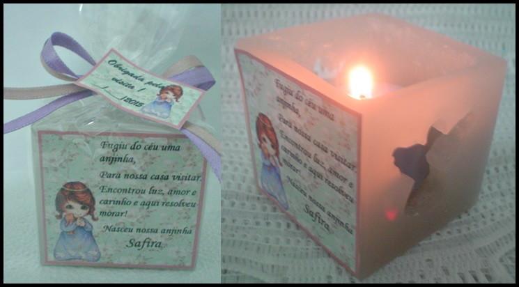 Well-known kit 10 Lembrancinhas de bebê-Anjinha menina. no Elo7 | Velas Tempo  GK12