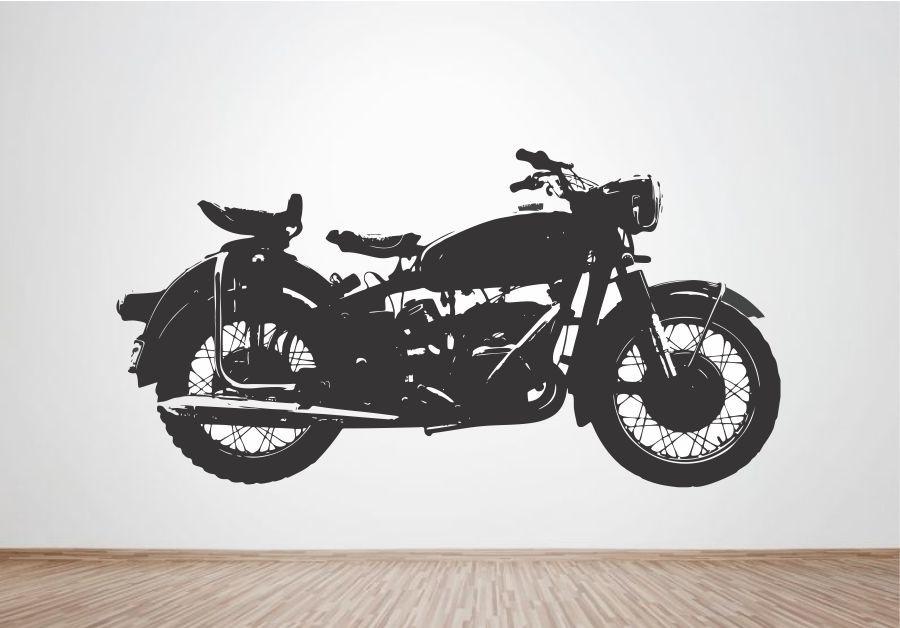 Armario Ropero Translation ~ Adesivo de Parede Moto Vintage Wegloo Elo7
