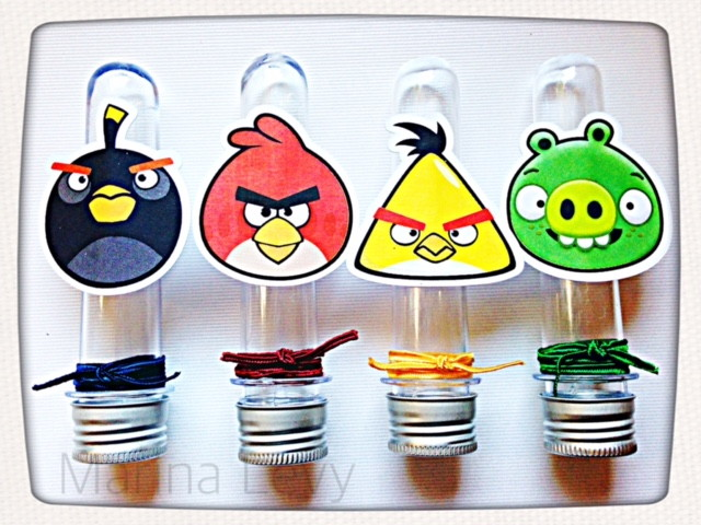 Toppers Personagens Angry Birds: Tubete - Angry Birds No Elo7