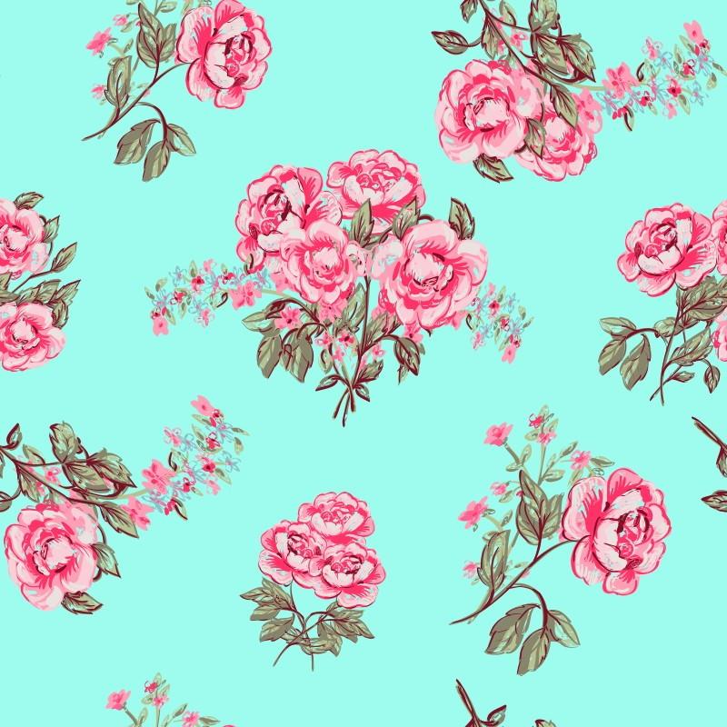 Papel de parede rose vintage qcola elo7 - Papel de pared retro ...