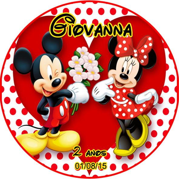 Armario Blanco Barato ~ Adesivo Redondo Mickey e Minnie Lima Kit Digital