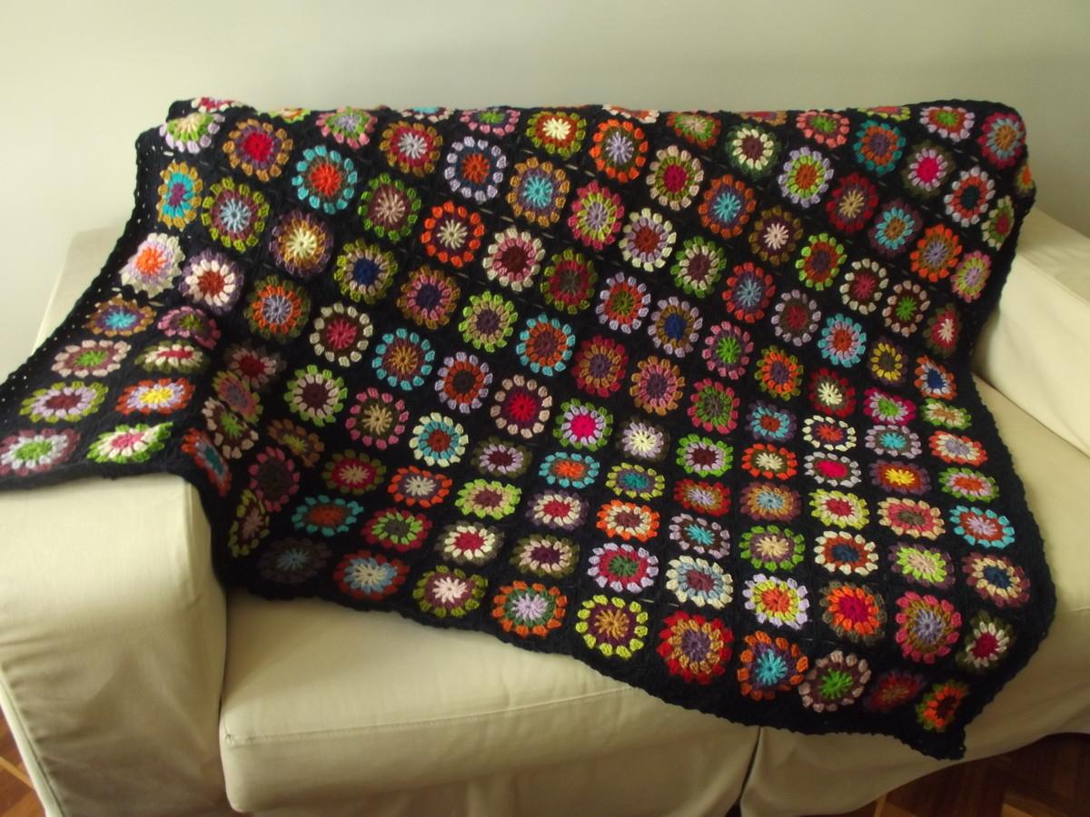 Manta de sof em croch no elo7 cristina sommer 545b0a - Manta de sofa ...