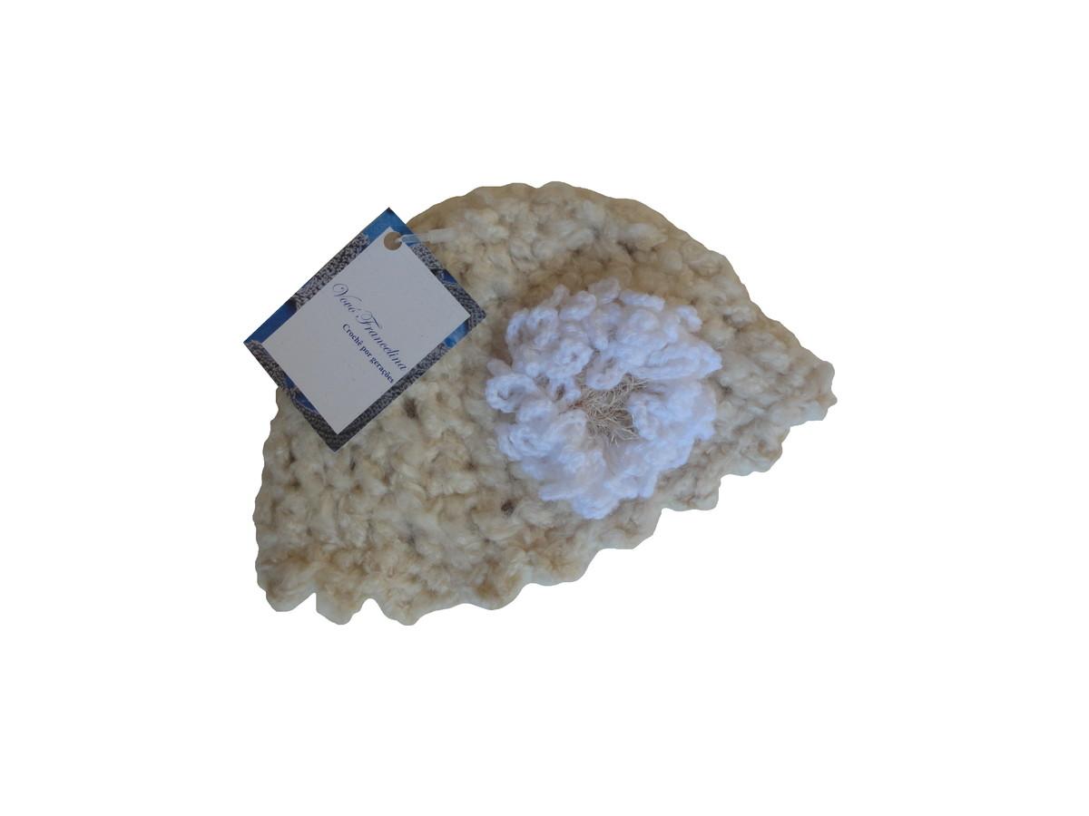 4388e615a481a Chapéu de crochê em lã - recém-nascido no Elo7